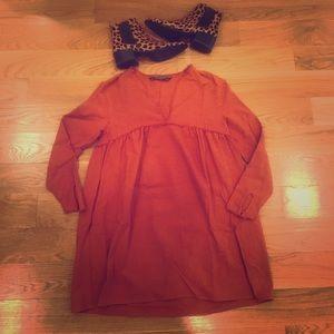 Zara dusty brown align dress